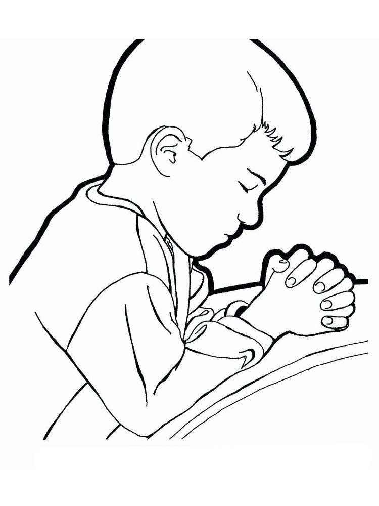 Bible Coloring Pages About Prayer