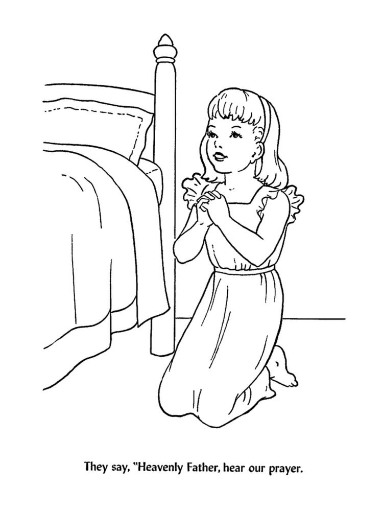 Bible Coloring Pages Prayer