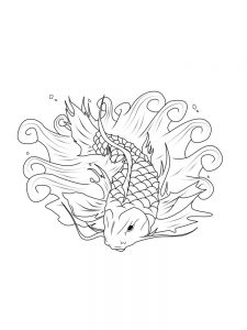 Big Fish Coloring Page