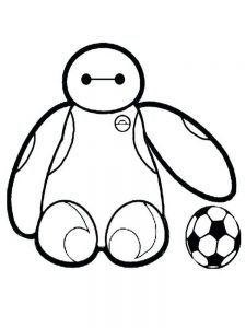 Big Soccer Ball Coloring Page
