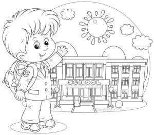 Big back to school coloring pages