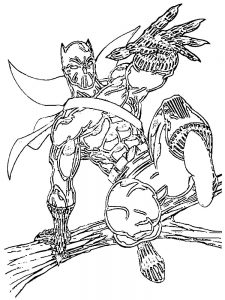 Black Panther Coloring Pages Pdf