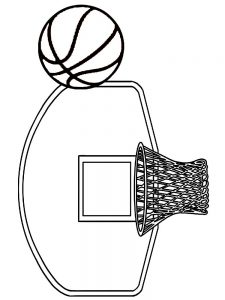 Blank Basketball Jersey Coloring Page