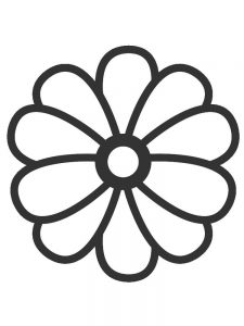 Blank Flower Coloring Pages