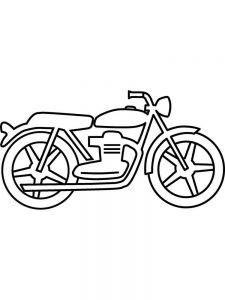 Blank Printable Motorcycle Coloring Pages
