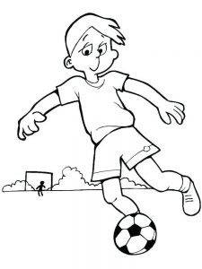 Blank Soccer Ball Coloring Page