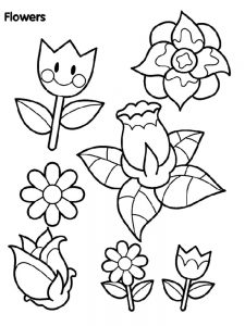 Blooming Flower Coloring Pages