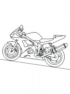 Bmw Motorcycle Coloring Pages