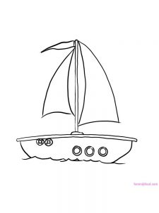 Boat Coloring Pages For Adults