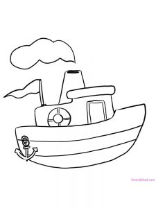 Boat Coloring Pages For Preschoolers