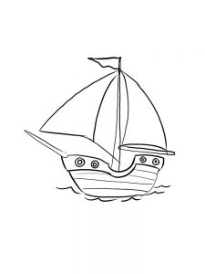 Boat Coloring Pages Free Printable
