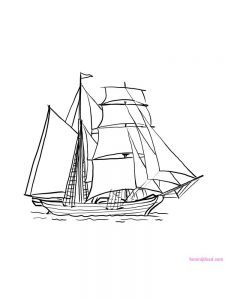 Boat Ship Coloring Pages