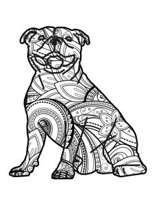 Bulldog Coloring Pages For Adults