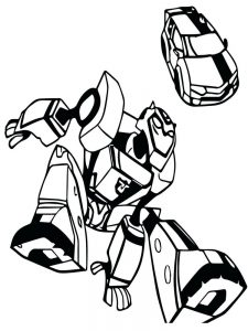 Bumblebee Transformer Car Coloring Pages