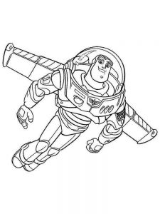 Buzz Lightyear Color Pages Free Printable