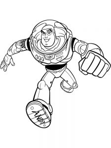 Buzz Lightyear Colouring Pages