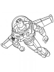 Buzz Lightyear Colouring Pages Free