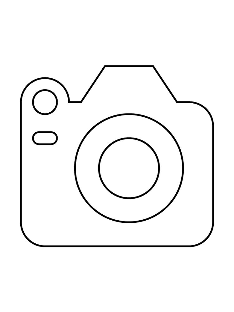Camera Girl Coloring Pages