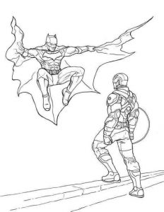 Captain America And Batman Coloring Page