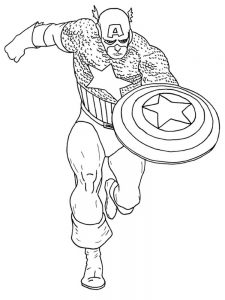 Captain America And Thor Coloring Page