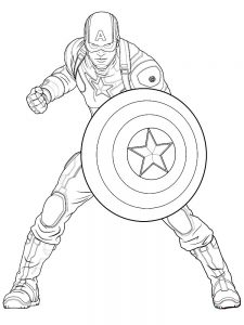 Captain America Coloring Page Printable