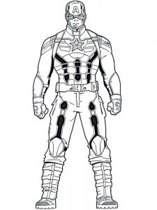 Captain America Coloring Pages Free Printable