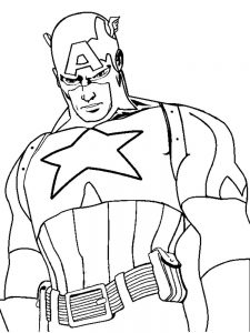 Captain America Coloring Pages Momjunction