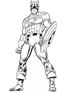 Captain America Colouring Page Free