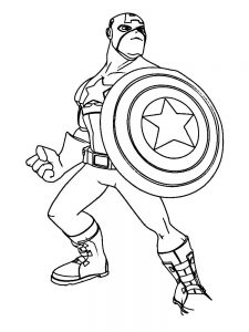 Captain America Colouring Pages Free Printable