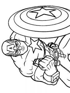 Captain America Colouring Pages Printable