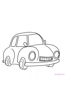 Car Coloring Pages For Preschoolers