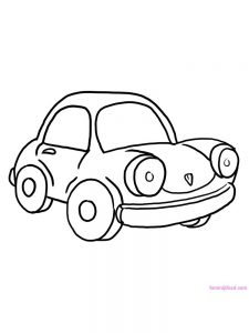 Car Coloring Pages Simple