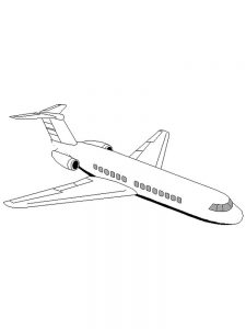 Cargo Plane Coloring Pages