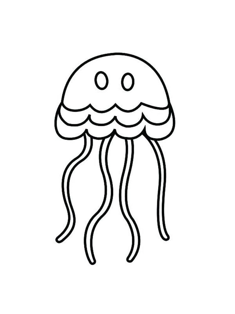 Cartoon Jellyfish Coloring Pages
