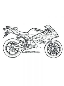 Cartoon Motorcycle Coloring Pages