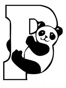 Cartoon Panda Bear Coloring Pages