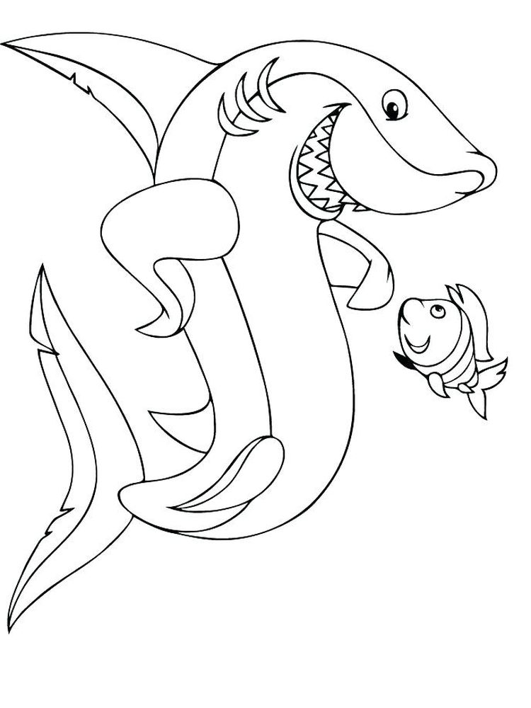 Cartoon Shark Coloring Pages