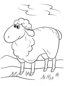 Cartoon Sheep Coloring Pages