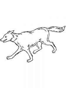 Cartoon Wolves Coloring Pages