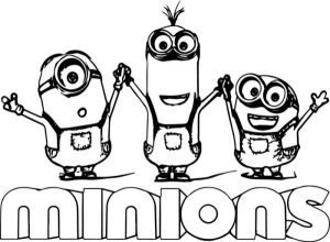 Cartoon minion coloring pages