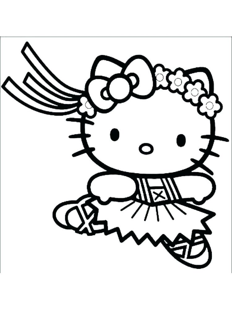 Cat Coloring Pages For Kindergarten