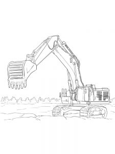 Cat Excavator Coloring Pages