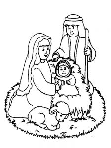 Catholic Nativity Scene Coloring Pages