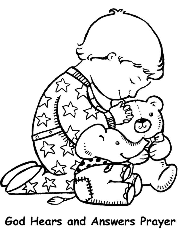 Catholic Prayer Coloring Pages