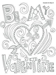 Charlie Brown Valentines Day Coloring Pages