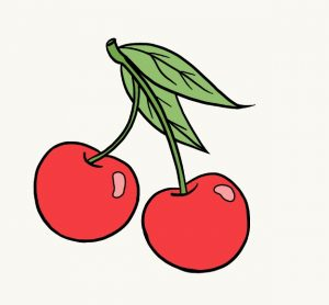 Printable Cherry Coloring Pages