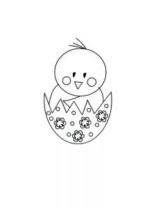 Chick Coloring Pages