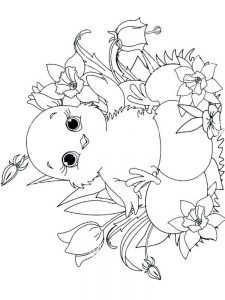 Chicken And Chick Coloring Pages free