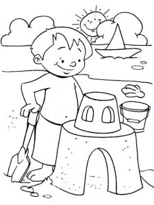 Child Beach Coloring Pages
