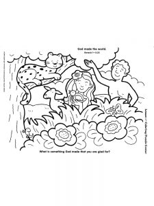 Childrens Coloring Pages Days Of Creation